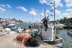 Fishingboats Grisslehamn Sweden Royalty Free Stock Images
