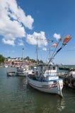 Fishingboats Grisslehamn Sweden Stock Photos