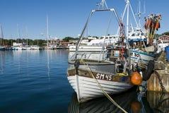 Fishingboats Nynashamn archipelago town Royalty Free Stock Photo