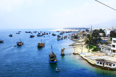 Fishingboats op Hainan Royalty-vrije Stock Foto