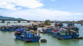 Fishingboats Vietnam stock images