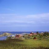 Fishinghuts Utfredel archipelago Royalty Free Stock Image