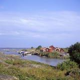 Fishinghuts Utfredel archipelago Stock Photos