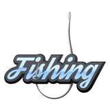 Fishingl label and badge Royalty Free Stock Photography