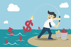 FishingMoney_2 Royalty Free Stock Photo