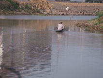 Fishman. Fisherman morning water food autumn Royalty Free Stock Photo