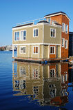 Fishman's wharf floating house Stock Image