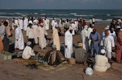 Fishmarket chez Barka, Oman Photos libres de droits
