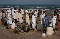 Fishmarket en Barka, Omán Fotos de archivo libres de regalías
