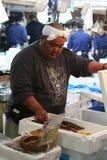 Fishmarket giapponese Fotografia Stock Libera da Diritti
