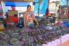 Fishmarket, Tailandia Fotografia Stock