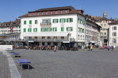 Fishmarktplatz square in Rapperswil Stock Image