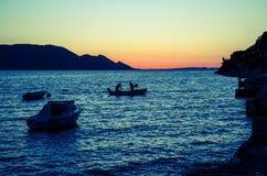 Fishmen на море Стоковое Изображение