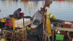 Fishmonger στην εργασία Στοκ φωτογραφίες με δικαίωμα ελεύθερης χρήσης