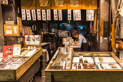 FISHMONGER, THE FISH CONNOISSEUR STORE Royalty Free Stock Photo