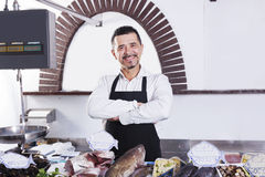 Fishmonger Royalty Free Stock Images