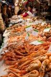 Fishmonger of a market Royalty Free Stock Image