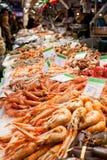 Fishmonger of a market Royalty Free Stock Photos