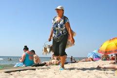 Fishmonger przy plażą Fotografia Royalty Free