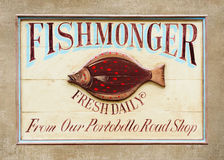Fishmonger Sign Royalty Free Stock Image