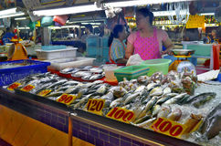 Fishmonger Stall At Banzaan Market In Patong Stock Photo