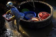 Fishmonger vietnamita Fotografie Stock