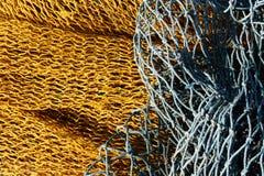 Fishnet amarillo y azul Foto de archivo
