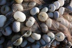 Fishnet blanc avec le support blanc de bille Images stock