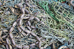 Fishnet and Fishing Lines Stock Photo