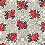 Fishnet Floral Pattern Stock Images