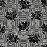 Fishnet Floral Pattern03 Royalty Free Stock Photo