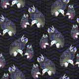 Fishnet Floral Pattern06 Royalty Free Stock Photo
