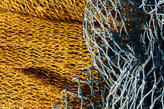 Fishnet jaune et bleu Photo stock