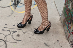 Fishnet stockings Royalty Free Stock Image