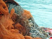 Fishnets in Budva Fotografia Stock Libera da Diritti