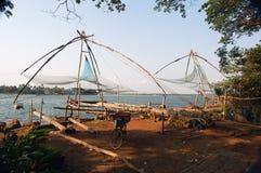 Fishnets cinesi, Cochin India del sud Fotografia Stock