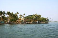 Fishnets cinesi, Cochin India del sud Immagini Stock