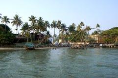 Fishnets cinesi, Cochin India del sud Fotografie Stock Libere da Diritti