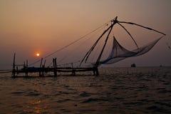 Fishnets em Cochin imagem de stock