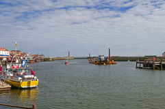 Fishng Boat Docked in Whitby Harbour Stock Photo