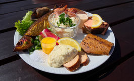 Fishplate from Bornholm, Denmark Stock Image