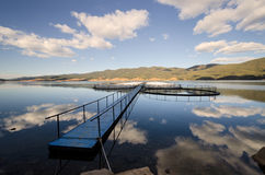 Fishpond in Dam Dospat Royalty Free Stock Photo
