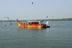 Fishremen roll-backing fishing nets Royalty Free Stock Photo