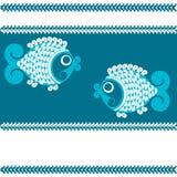 Fishs décoratifs de vecteur illustration de vecteur