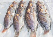 Fishs secchi al mercato libero Fotografie Stock