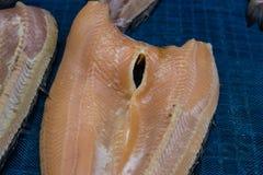 Fishs secchi di alimento locale al mercato libero Fotografia Stock