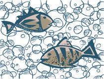 fishs två Fotografering för Bildbyråer