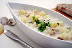 Fishsoup. With potatoes and rice Royalty Free Stock Image