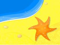 Fishstar on sand near sea Royalty Free Stock Photography