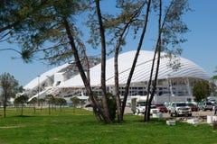 Fisht Olimpijski stadium Widok parking zdjęcia stock